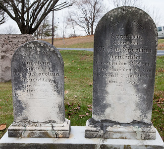 Left: Caroline (Carolina) Rentschler, daughter of Michael Geiss Rentachler and Caroline Nunnemacher Schock, 1873 - 1878 Right: Franklin, son of Michael Geiss Rentachler and Caroline Nunnemacher Schock, 1868 - 1878
