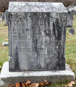 Diana Rebecca, wife of Charles Krick, 1859 - 1893