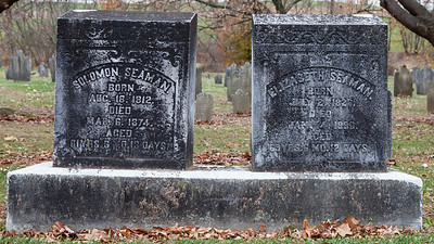 Left: Solomon Seaman, 1812 - 1874 Right: Elizabeth Seaman, 1826 - 1896