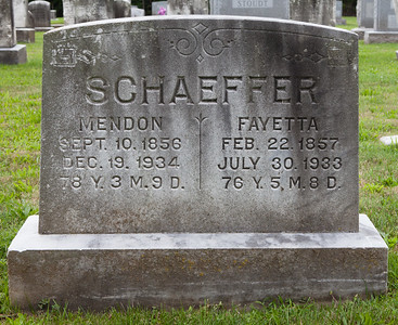 Mendon (Amendon) Schaeffer, 10 Sep 1856 - 19 Dec 1934, and Fietta Hollenbach, 21 Feb 1857 - 30 Jul 1933. Mendon is the son of Joel and Sarah (Ernst) Schaeffer. Fietta is the daughter of David and Fayetta (Lesher) Hollenbach. Together they had 5 known children: Katie H., David Joel, Charles Hollenbach, Molly and Sallie H.