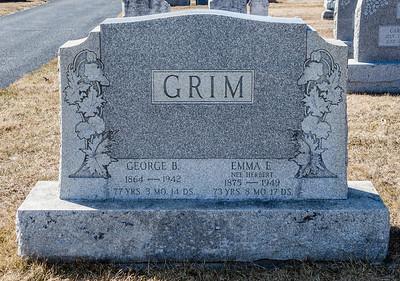 George B. Grim, 1864 - 1942.  Emma E. (Herbert) Grim, 1875 - 1949.