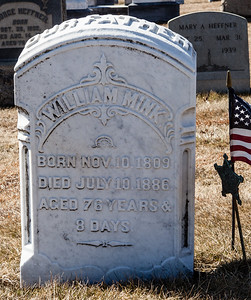 William Mink, Nov 10, 1809 - July 10, 1886.