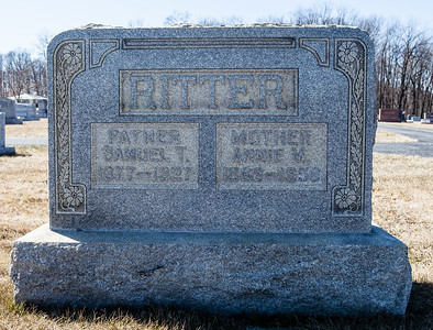 Father: Samuel T. Ritter, 1877 - 1927.  Mother: Annie M. Ritter, 1868 - 1956.
