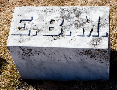 E. B. M.  Next to the stone for William Mink, Nov 10, 1809 - July 10, 1886.