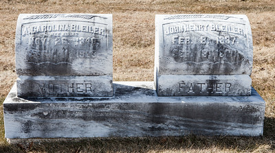 Mother: A. Carolina (Kuhns) Bleiler, Nov 26, 1840 - Arpil 11, 1923.  Father: John Henry Bleiler, Feb 8, 1837 - Sept 18, 1886.
