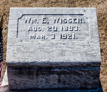 Son: William E. Wisser, Aug 20, 1893 - Mar 3, 1921.