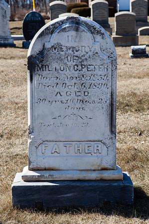 Father: Milton G. Peter, Nov 8, 1859 - Oct 6, 1890.