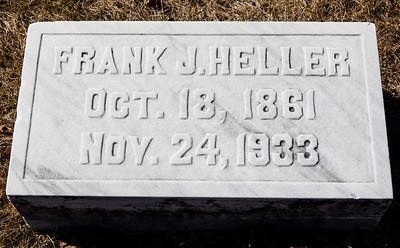 Frank J. Heller, Oct 18, 1861 - Nov 24, 1933.