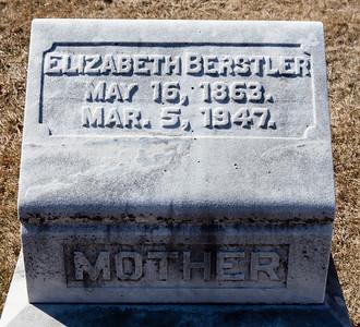 Mother: Elizabeth Berstler, May 16, 1863 - Mar 5, 1947.  Note: stone with Ezekiel and William Wisser.