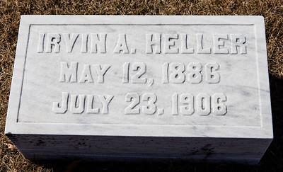 Irvin A. Heller, May 12, 1886 - July 23, 1906.