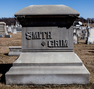 Smith, Grim, monument in Ziegel's Union Cemetery, Breinigsville, PA.