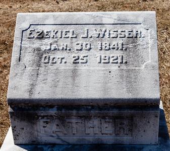 Ezekiel J. Wisser, Jan 30, 1841 - Oct 25, 1921.