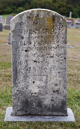............ of Cyrus and Sarah Weidenhammer, born __ 187_, died ___8, 1873 (or 1878?), age 5 months..