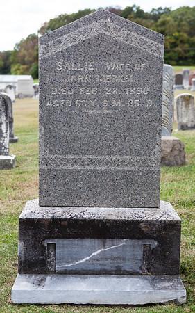 Sallie, wife of John Merkel, died Feb 28, 1890, age 56...