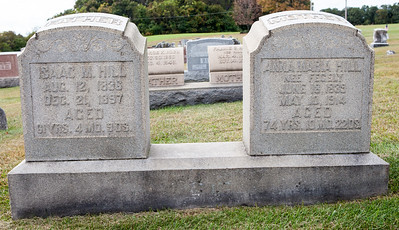 Isaac M. Hill, Aug 12, 1836, December 21, 1897. Anna Maria hill nee Fegely, June 18, 1839, May 10, 1914
