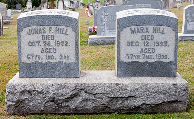 Jonas F. Hill, Sep 25, 1855 - Oct 28, 1922. Maria (Schwoyer) Hill, 23 Apr 1858 - Dec 12, 1935.