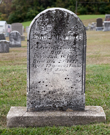 Emeline Y. Hill, Daughter of Frederick & Emeline Hill, born Jan 18, 1865, died Dec 23, 1877, age 12...