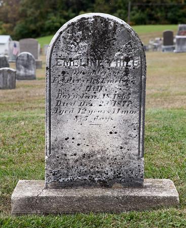 Emeline Y. Hill, Daughter of Frederick & Emeline Hill, born Jan 18, 1865, died Dec 23, 1877, age 12...