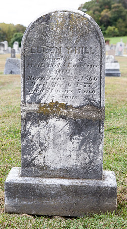 Ellen Y. Hill, daughter of Frederick & Emeline Hill, born June 28, 1866, died Dec 6, 1877, age 11 y, 5 m, 8 d.