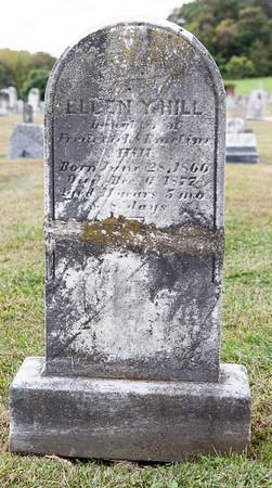Ellen Y. Hill, daughter of Frederick & Emeline Hill, born June 28, 1866, died Dec 6, 1877, age 11 y, 5 m, 8 d.