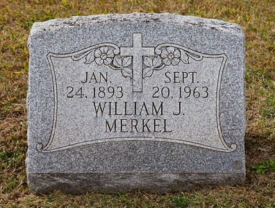 Jan 24, 1893, Sept 20, 1963, William J. Merkel
