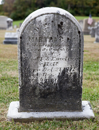 Martha C. .... & daughter of of Frederick & Emeline Hill, born Oct 21, 1871, died Dec. 1, 1877, age 6 yrs...