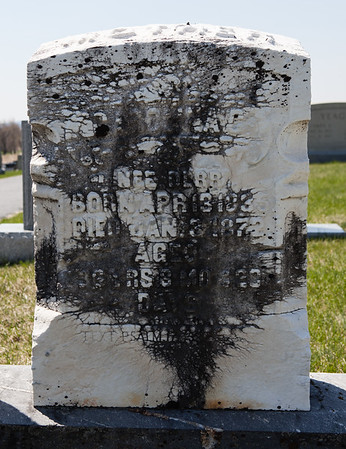 Carolina C. Derr, wife of Daniel Saul. April 13, 1835 - Jan 3, 1872.