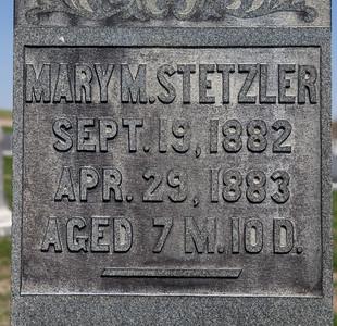 Mary M. Stetzler, 1882 - 1883