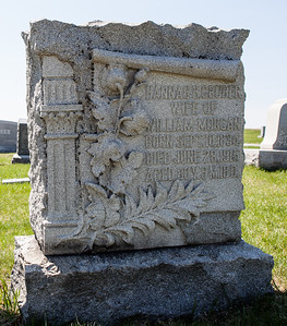 Hannah Gruber, wife of William Morgan, born Sept 10, 1834, died June 28, 1915