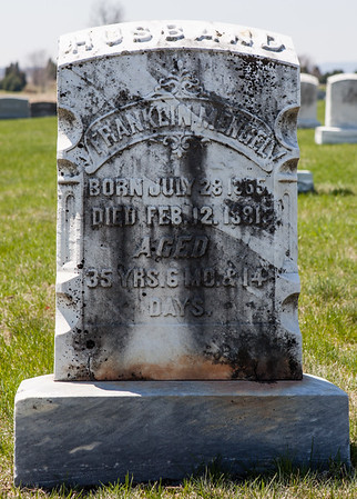 Franklin Mengel, JUly 28 - 1855 - Feb 12, 1891. Husband of Margaretha A. Saul. Their son was Frank Ambrose Mengel.