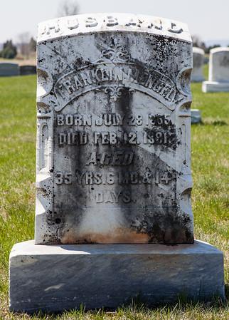 Franklin Mengel, JUly 28 - 1855 - Feb 12, 1891. Husband of Margaretha A. Saul. Their son was Frank Ambrose Mengel.
