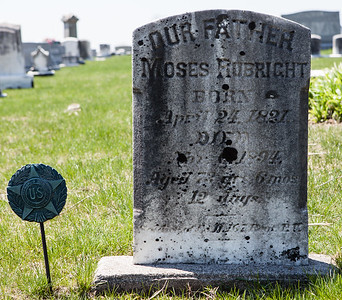 Moses Ruprecht, April 24, 1821 - Nov(?) 1894. Son of Philip Ruprecht and Maria Winter,