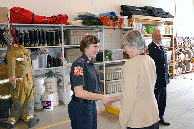 Honourable Judith Guichon's visit to North Pender Fire Hall and Community Centre