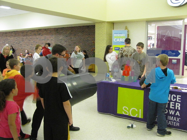 The Science Center of Iowa was giving hands-on, interactive demonstrations for the kids.