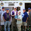"The Belle Fourche Lions Club was again recipient of the best ""Club Website"" in MD5.  District 5-SW Governor Janice Wagner (center) showed up at the event to present the award to webmaster Lion Larry Miller.  Other Lions (l-r) are Brian Kline, Tom Nary, Rick Walton, President Rik Bartels, Larry Miller, Jan Wagner, Ron Ensz, Gerald Keil and Rich Drabek."