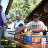 The serving line was conveniently located adjacent to one of the Lions shelters in Herrmann Park.