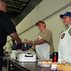 Lions Rick Walton (center) and Ron Ensz were our Saturday sandwich guys.