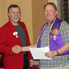 Also on March 24, 2011, Lion John Cooper (right) received a <i> Rookie Lion Supporter</i> award from DG Burkhead.