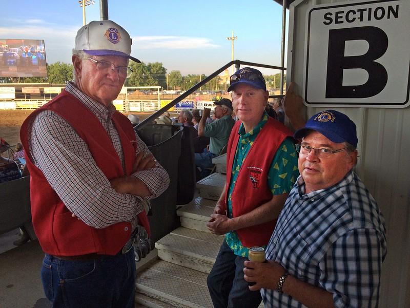 Lions Leo Orme, Brian Kline, and Ron Ensz.