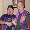 "<b>KLINE ANOTHER ""PERFECT ATTENDER""</b> 12 November 2013  Belle Fourche Lions Club president Rik Bartels (left) congratulates Lion Brian Kline on receiving an award for perfect attendance during the past year.  Kline, immediate past president of the club, received the award at the December 12, 2013 meeting."