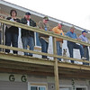 In November of 2010, several Lions Club members helped side one of the main buildings in the facility for homeless women veterans which is being built north of Belle Fourche on Water Tower Road.<br /> <br /> These folks were among the many volunteers helping with the project:   Lion Joyce Drabek, Randy Lange, Lion Tom Hood, Lion Bob Tipton, Lion Rich Drabek, Ross Sudez, director of the project, and Logan Crisp.