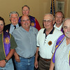 Lion Ken Gifford (third from left) from Rapid City conducted the installation ceremonies for both the Belle Fourche and Northern Lights Lions clubs on September 8th at the Belle Fourche Country Club.<br /> <br /> These Belle Fourche Lions were among those installed.  Shown (left-to-right): Rich Drabek, Treasurer; Rick Bartels, 1st Vice-President;  Ken Gifford of Rapid City; Ron Ensz, outgoing President; John Cooper, Tail Twister; Gerald Keil, Lion Tamer; Brian Kline, President; Tom Hood, 2-Year Director; and Del Neumeister, Secretary.<br /> <br /> Not pictured are Steve Smith and Bob Tipton, 1-Year Directors; Eric Beals, 2-Year Director; and Tim Cleveland, Tail Twister.  To get a closer look at each of these Lions, you can click on the image and choose a larger version from the menu at the top.