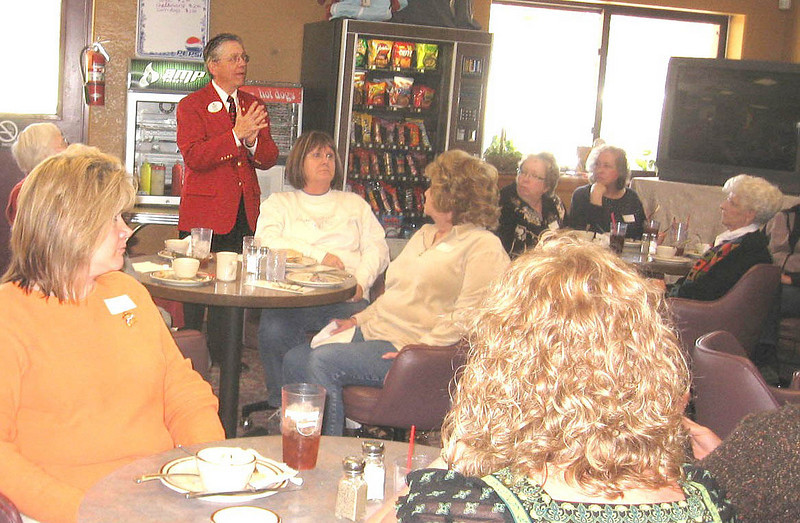Lions District Governor Doug Scheller of Rapid City was on hand for the informational meeting, providing good information for the prospective new Lions club in Belle Fourche.
