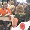 <I><B>ORGANIZING A NEW LIONS CLUB</B></I>  In all, 14 ladies interested in becoming charter members of a new Belle Fourche Lions Club participated in an informational meeting last Thursday (10/22). Several more ladies in Belle Fourche have said they're ready to join, too!   Attendees enjoyed a bit of conversation and a light lunch at the Belle Fourche Country Club.  Among those attending (in orange) was Mary Riley.