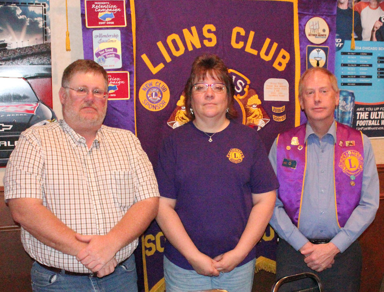 "<I><B>LIONS OF THE YEAR ANNOUNCED</i> May 27, 2015</b>  Lions President Rick Walton (at left in this photo) announced at the Lions meeting this week (5/26/15) there would be TWO recipients of the Lion of the Year award from the Belle Fourche Lions Club this year:  Lion Melodey Zupan and Lion Brian Kline.  Our congratulations to both!  ""<b><i>Each has demonstrated leadership during the past year in helping further the spirit and achievements of Lionism,</i></b>"" noted Walton in announcing their selection.  Presentation of the award plaques will be made at a later date."