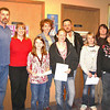 "2008 Peace Poster Contest winners.  Among the winners are Emily Suwyn, Megan Street, and Akela Gross, shown here with some of their family members.            <b>Return to <i> <a href=""http://www.bellefourchelions.org"">Belle Fourche Lions</a> web site</i></b>"