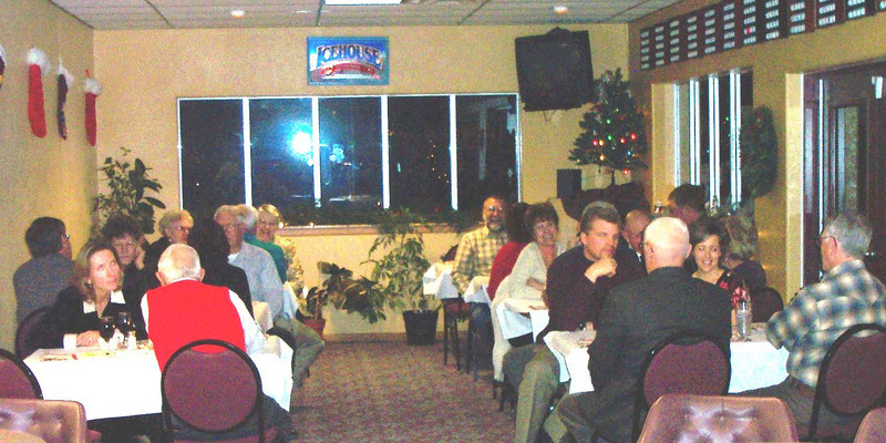 Lions and their spouses at the 2008 Christmas Party at the Belle Fourche Country Club.