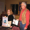 <b><i>2009 PEACE POSTER AWARDS</i></b>  Adrian Erb of the Belle Fourche Middle School was the First Place winner in the annual Peace Poster competition.  Adrian, shown here with her winning poster, received a $50 prize from the Lions Club, presented by club president Leo Orme.