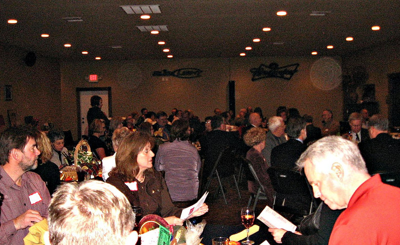 "About 100 people attended the Charter Ceremony at the Branding Iron in Belle Fourche.          Return to:  <a href=""http://bellefourchelions.blogspot.com/2010/01/northern-lights-lions-are-chartered_27.html""> <b><i> Belle Fourche Lions</i></b></a> web site"