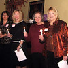 Ladies of the Northern Lights club performing the traditional candlelight ceremony.